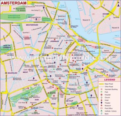 Cliquez pour agrandir la carte d'Amsterdam