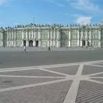 Le palais d'hiver ( musée de l'Ermitage ) à Saint-Pétersbourg