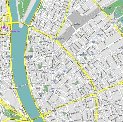 plan Budapest carte