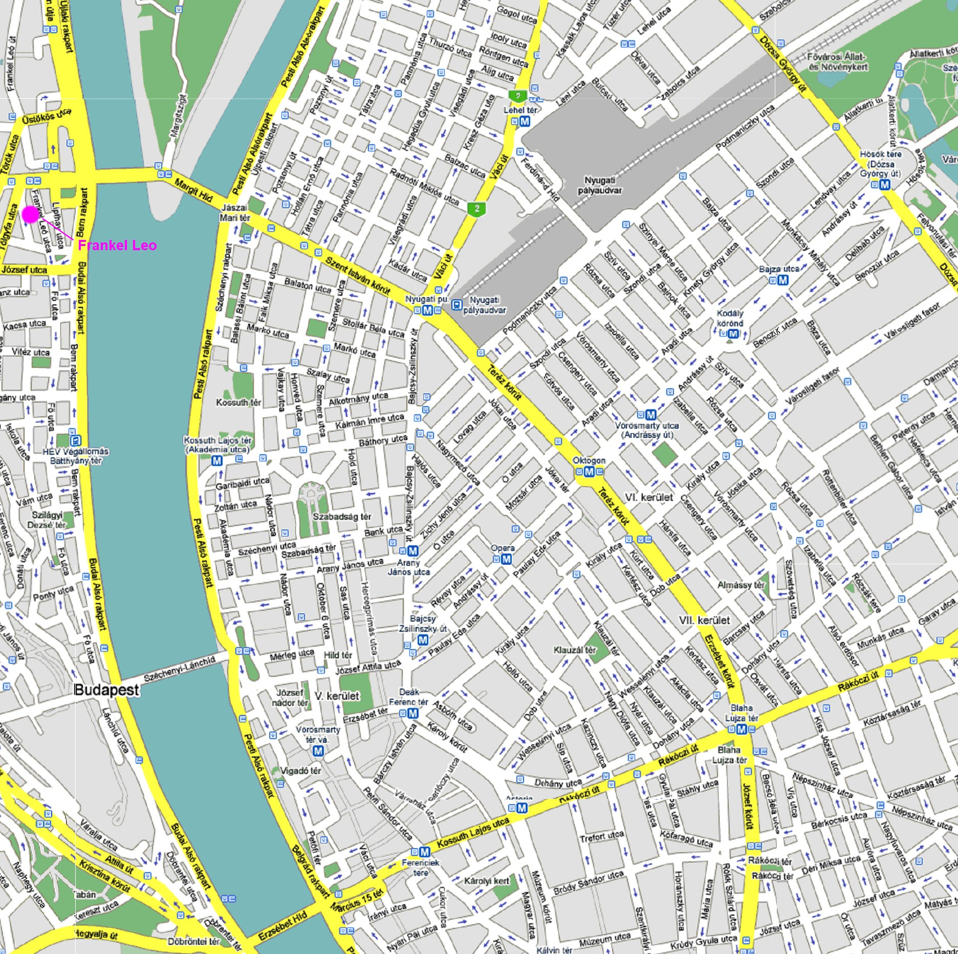 Carte Ville Budapest