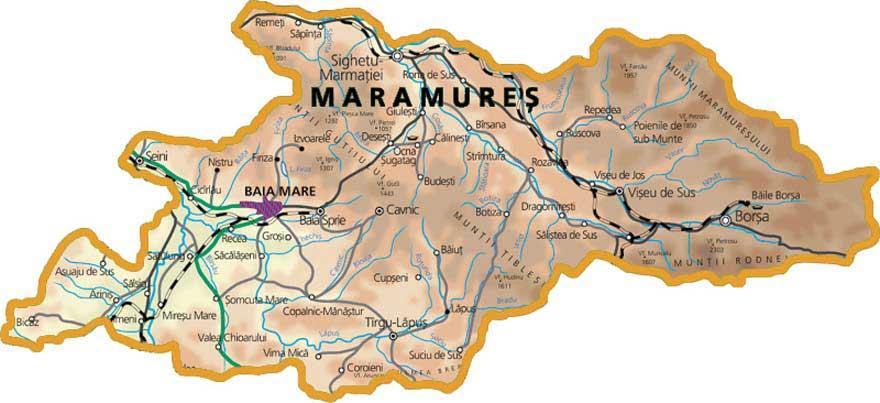 Cliquez sur la carte pour l'agrandir - Copyright http://hartamaramures.ro