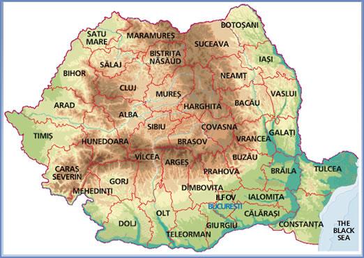 roumanie-carte provinces