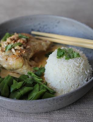 Curry de poulet au lait de coco et noix de cajou 3