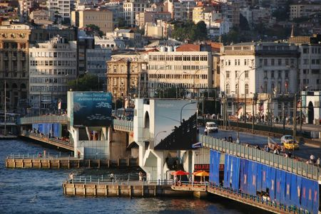 pont galata istanbul turquie