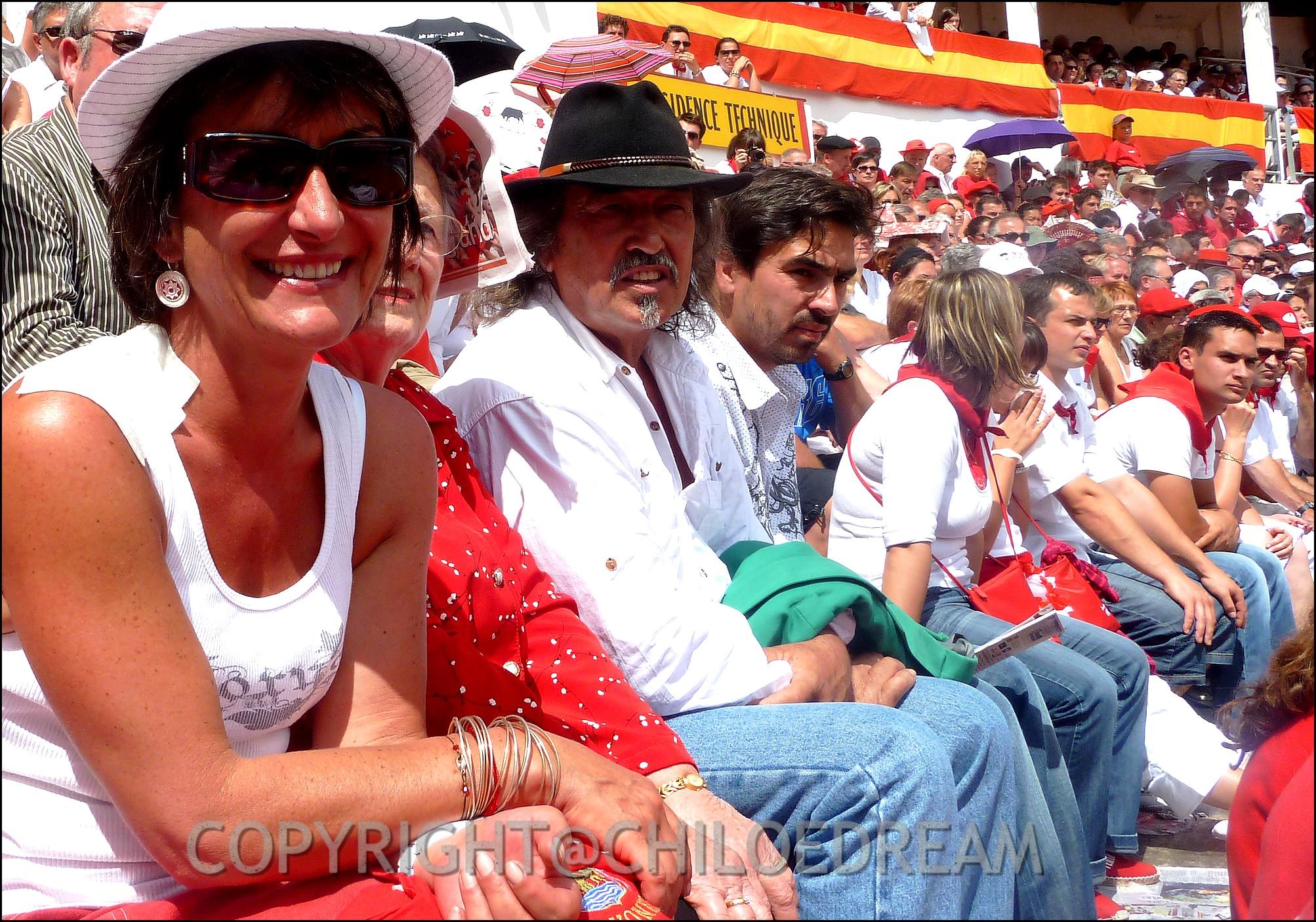 Voyage Pays Basque - Dax ; Corrida à cheval en rouge et blanc 9