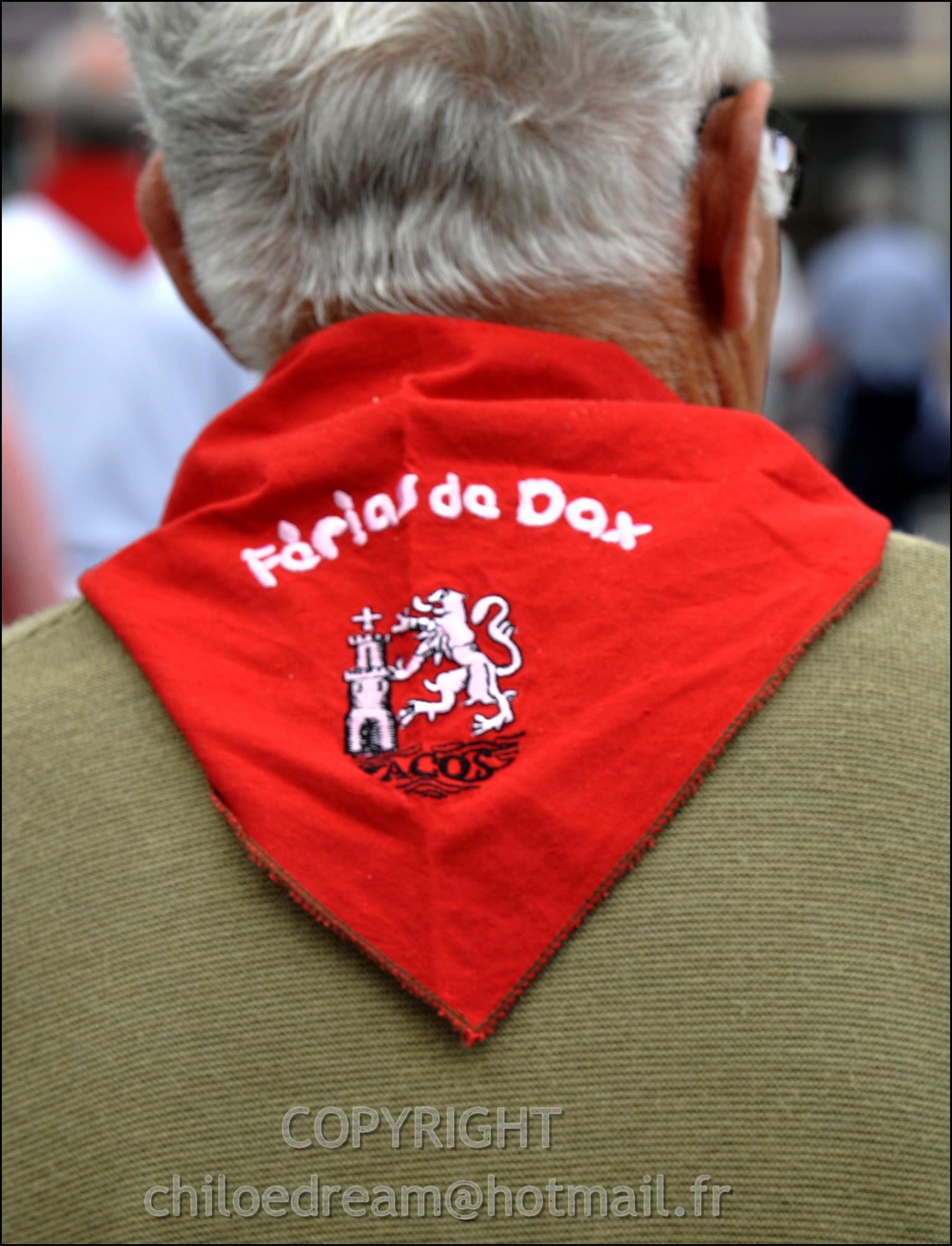 Voyage Pays Basque - Dax ; Corrida à cheval en rouge et blanc 11