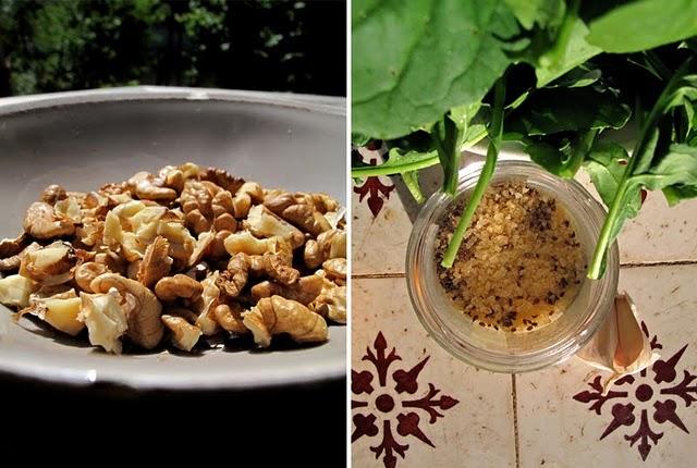 sauce pesto roquette noix recette italienne