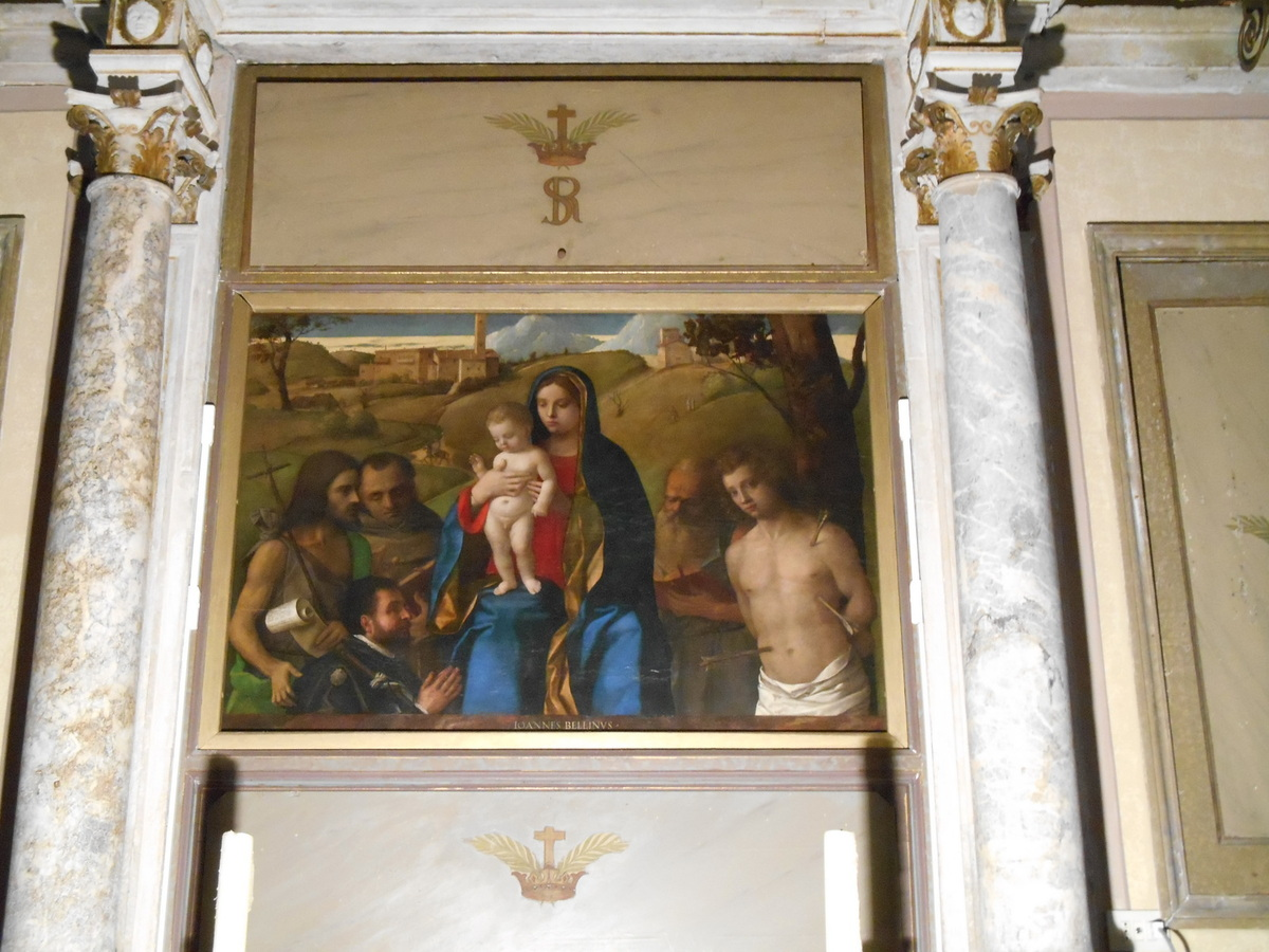 """""""Vierge à l'enfant avec quatre Saints"""" tableau de Giovanni Bellini (1507)"""