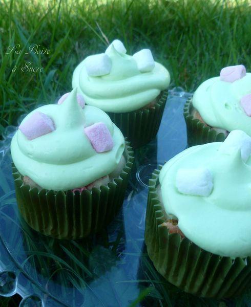 Cupcakes pandan guimauves