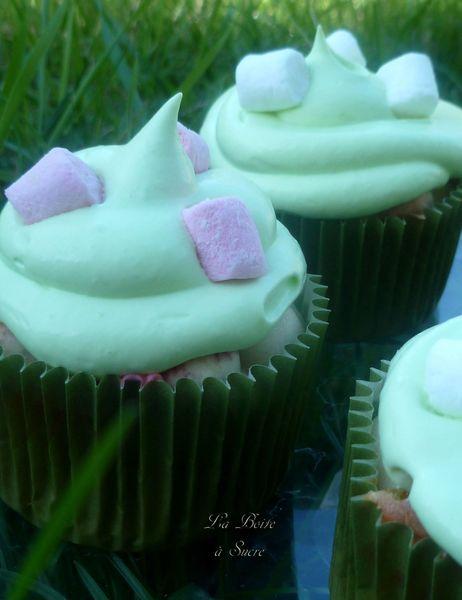 Cupcakes pandan guimauves 2