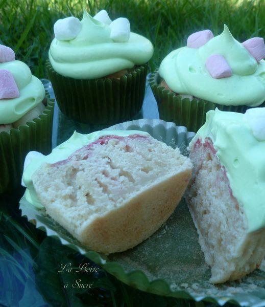 Cupcakes pandan guimauves 3