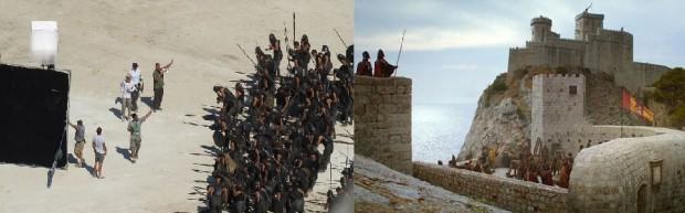 Game of thrones tournage à dubrovnik pour les scènes de port real