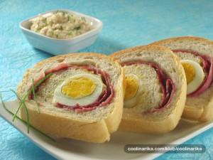 Pain croate aux oeufs et au jambon recette croate for Cuisine entree facile