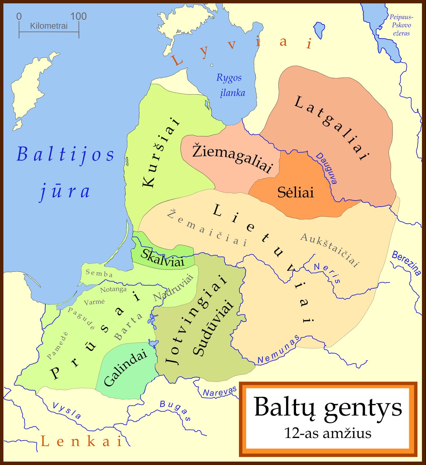 Les tribus baltes au 12e siècle