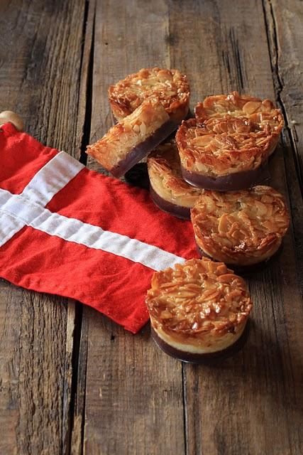 Tartelettes aux amandes effilées et chocolat recette danoise