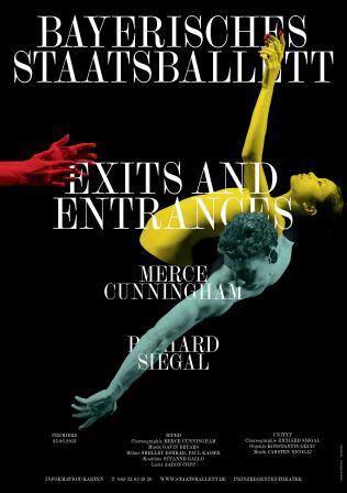 Das druckfrische Plakat zur Premiere EXITS AND ENTRANCES