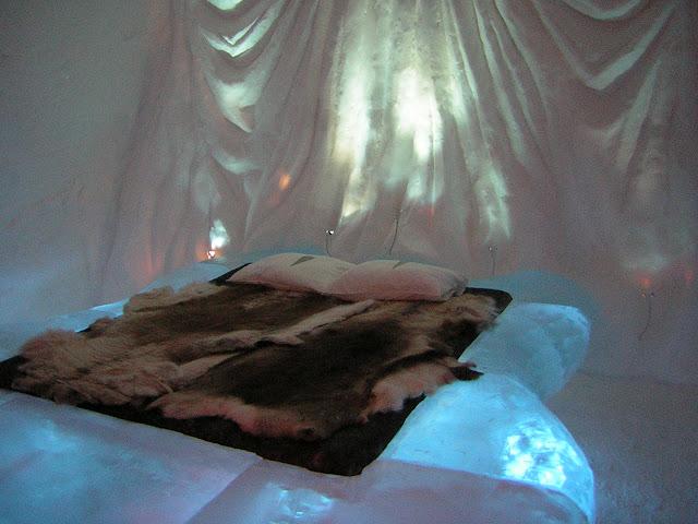 Ishotell Jukkasjarvi ; un hôtel de glace insolite en Laponie (Suède) 2