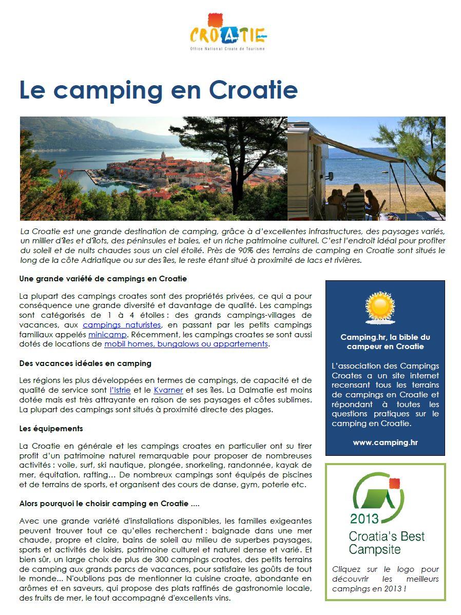 La Croatie en camping car : conseils utiles (Forum Croatie) 1