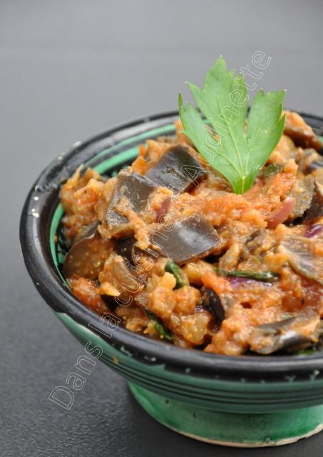 Zaalouk, cuisine marocaine caviar d'aubergine du Maroc