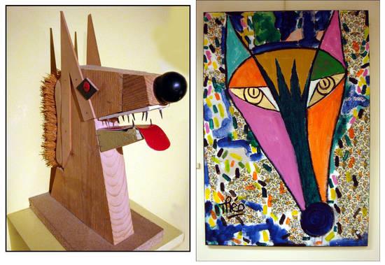 loup sculpture peinture musee du loup bretagne