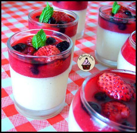 mousse mascarpone vanille et coulis fruits rouges