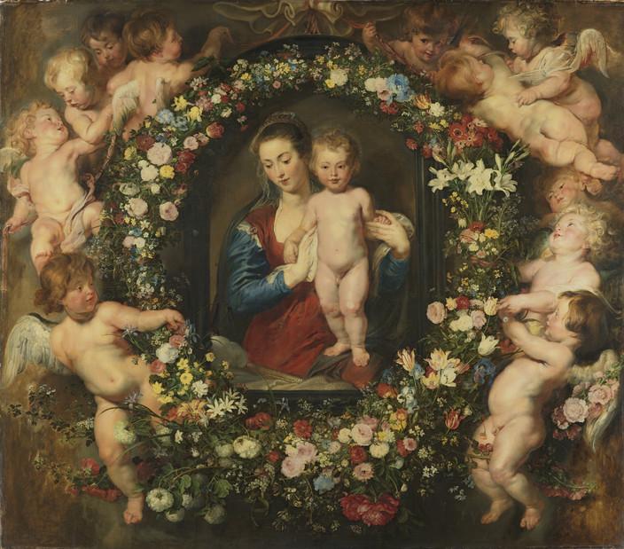 Peter Paul Rubens and Jan Brueghel the Elder Madonna in a Garland of Flowers, ca. 1616/18