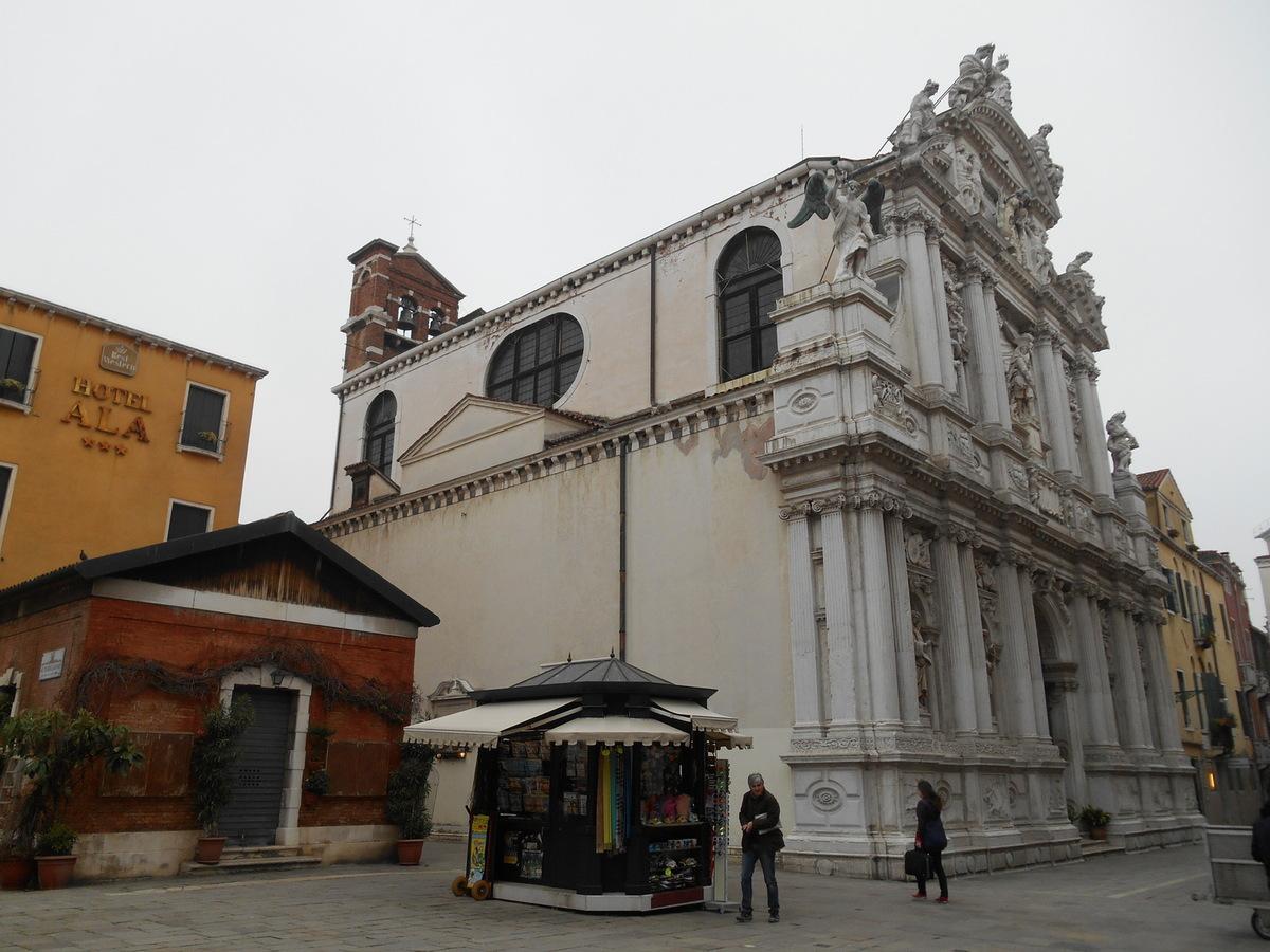 Devanture de l'église Sta Maria del Giglio.