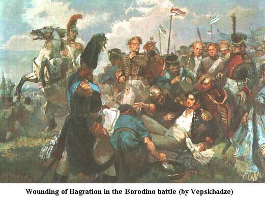 Mort du Prince Bagration à la bataille de la Moskova le 7 Septembre 1812 4