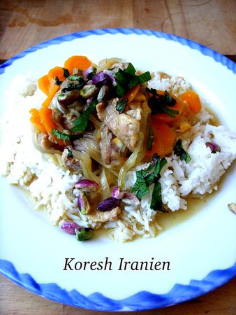Khoresh Dagneau Perse Recette Iranienne IDEOZ Voyages - Cuisine iranienne