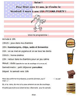 USA Pyjama Party