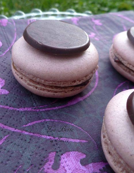39742c0d49 82994332 p Macarons aux clémentines et chocolat noir