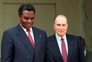 François Mitterrand et Juvénal Habyarimana.