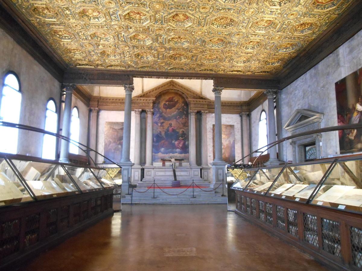 L'autel majeur réalisé par Sansovino .