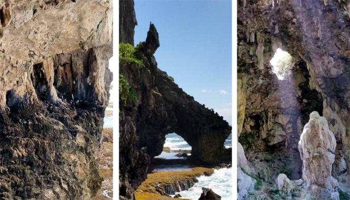 falaises sur l'ile rurutu