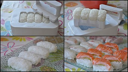 nigiri sushi saumon et dorade