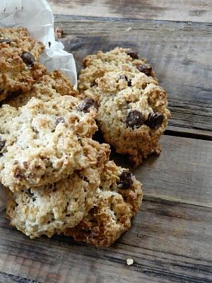 recette américaine cookies flocons avoine pépites chocolat