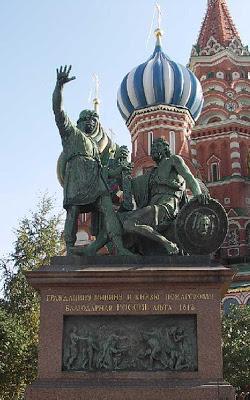 Monument à Minine et Pojarski  à Moscou histoire russe