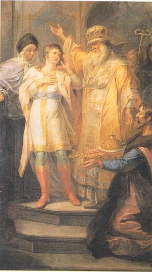 couronnement michel 1er romanov tsar de russie