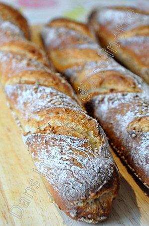 Recette de pain cuit en cocotte et de baguette maison au for Baguettes de pain maison