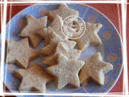 étoiles à la noisette hasselnuss stern