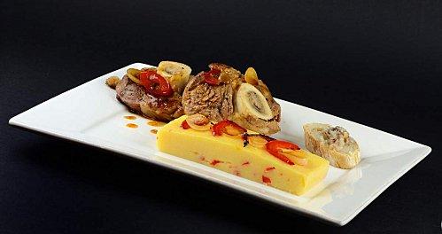 Osso bucco aux poivrons rouges et la polenta recette - Cuisine italienne osso bucco ...