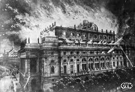 Opera Prague narodni Divadlo en feu