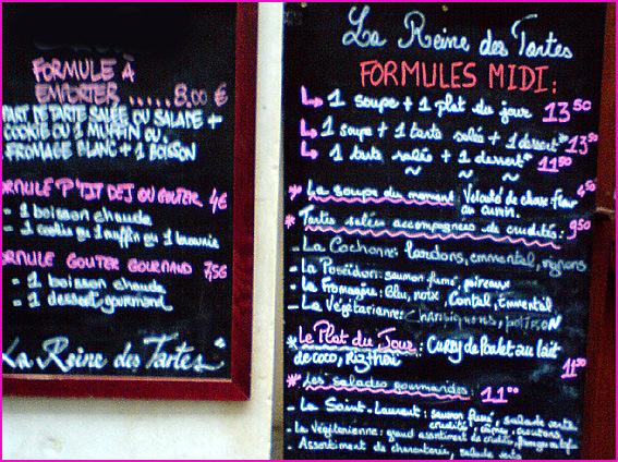 Paris restaurant la reine des tartes