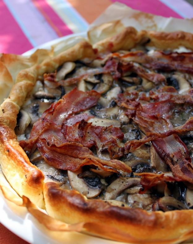 Tarte champignons, ricotta et pancetta (Recette italienne) 5