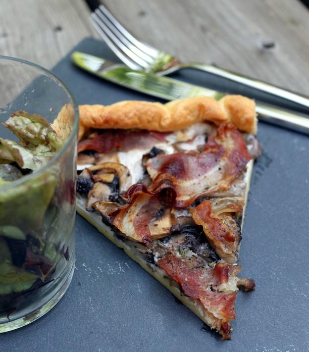 Tarte champignons, ricotta et pancetta (Recette italienne) 1