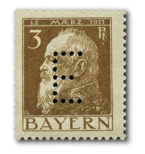 Bayern – Dienstmarken Prinzregent Luitpold