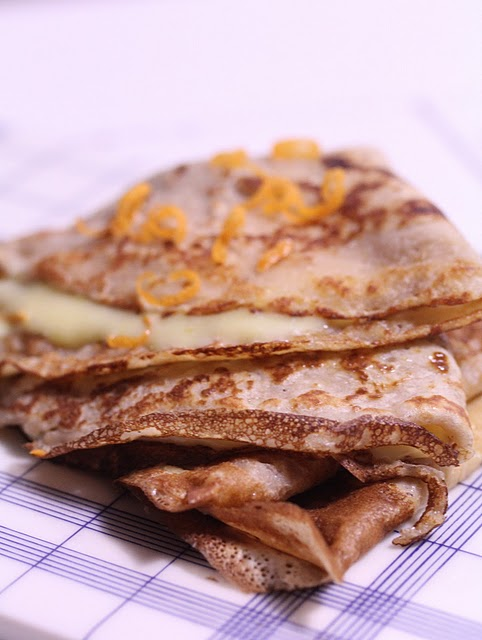 recette crepes farine chataigne curd clementines