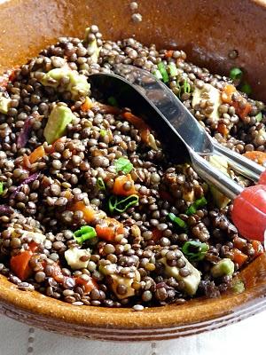 Salade aux lentilles du Puy en Velay 1