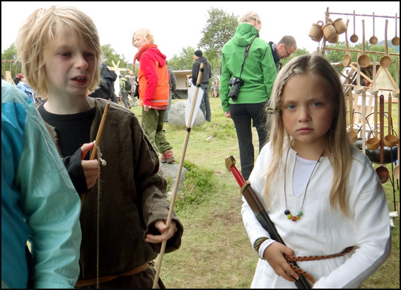 gamins blonds vikings Lofoten