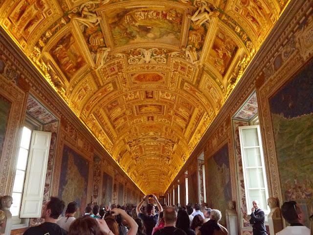 rome vatican Galerie des Cartes Géographiques